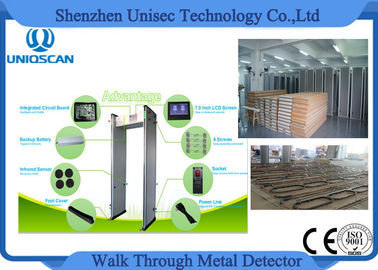 China High sensitivity walk through metal detector can detect 3 pcs staple pin and easily installed distribuidor